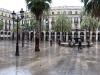 Placa Reial Barcelona panorama